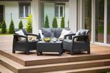 ALLIBERT CORFU SET antracit/sivá (223204) - set záhradného nábytku