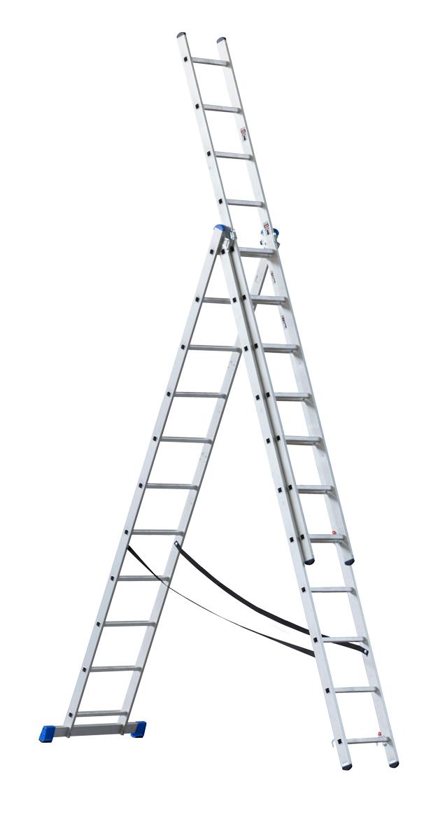 Rebrík G21 trojdielny 7,6m 3x11 priečok