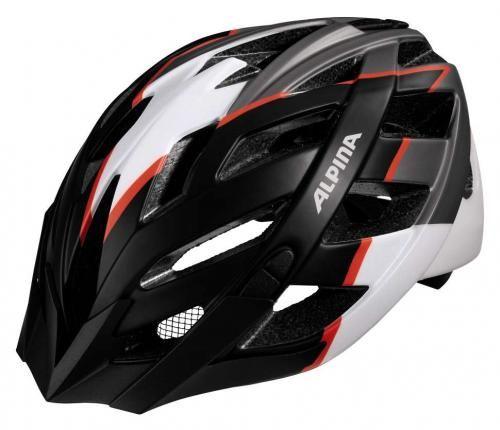Cyklistická prilba ALPINA PANOMA L.E čierno-bielo-neónovo červená ... 0b6c7fd9c50